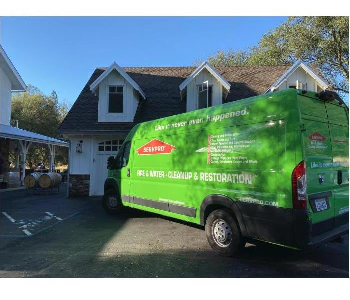 SERVPRO van parked outside of a winery in Angels Camp, CA